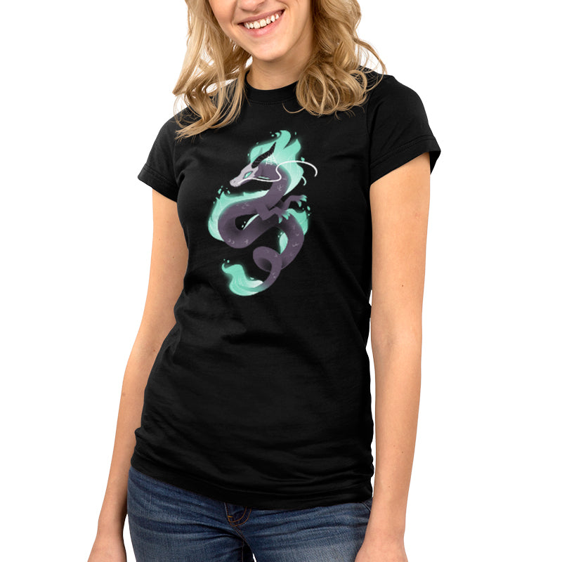 Halloween Dragon Juniors T-Shirt Model TeeTurtle