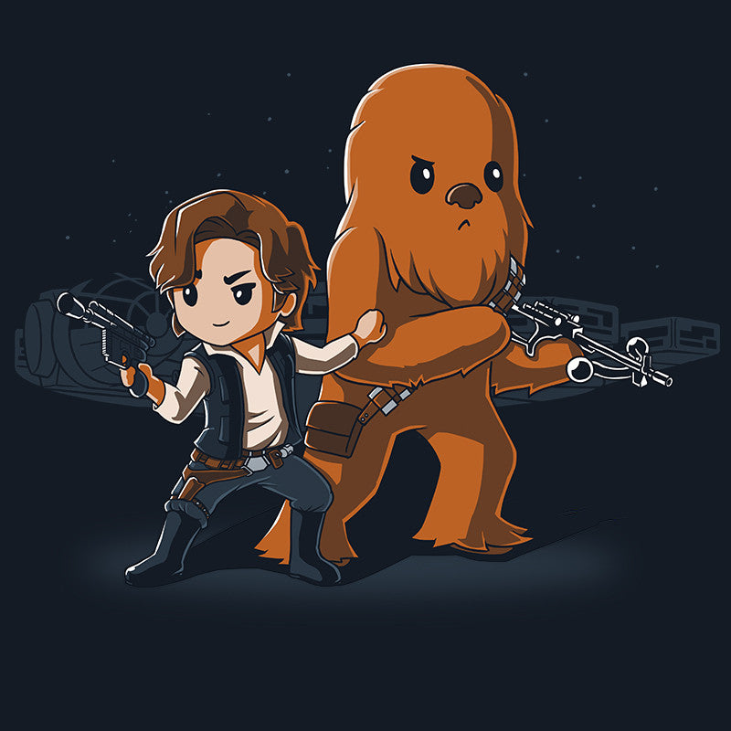 Han and Chewie t-shirt Star Wars TeeTurtle