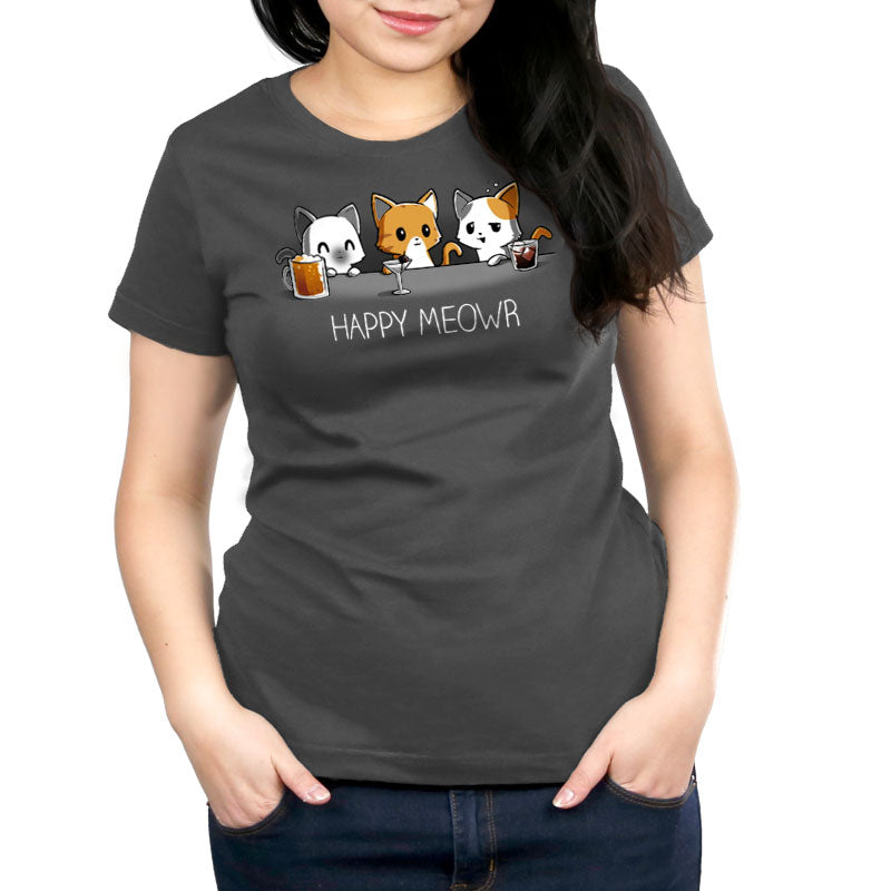 Happy Meowr Women's Relaxed Fit T-Shirt Model TeeTurtle