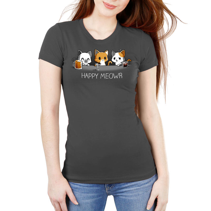 Happy Meowr Women's Ultra Slim T-Shirt Model TeeTurtle