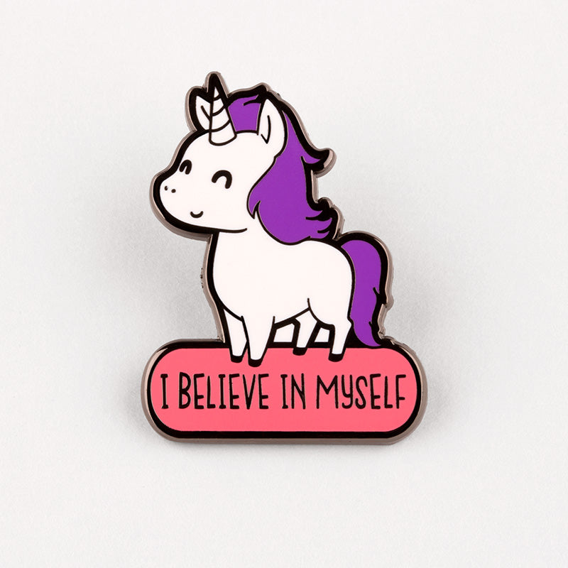I Believe in Myself Charm Pin TeeTurtle