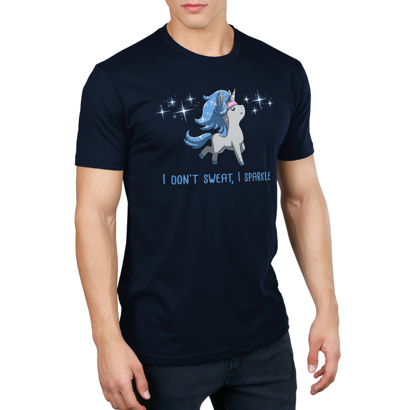 I Don't Sweat, I Sparkle Men's T-Shirt Model TeeTurtle