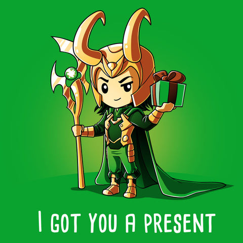 I Got You A Present T-Shirt Marvel TeeTurtle