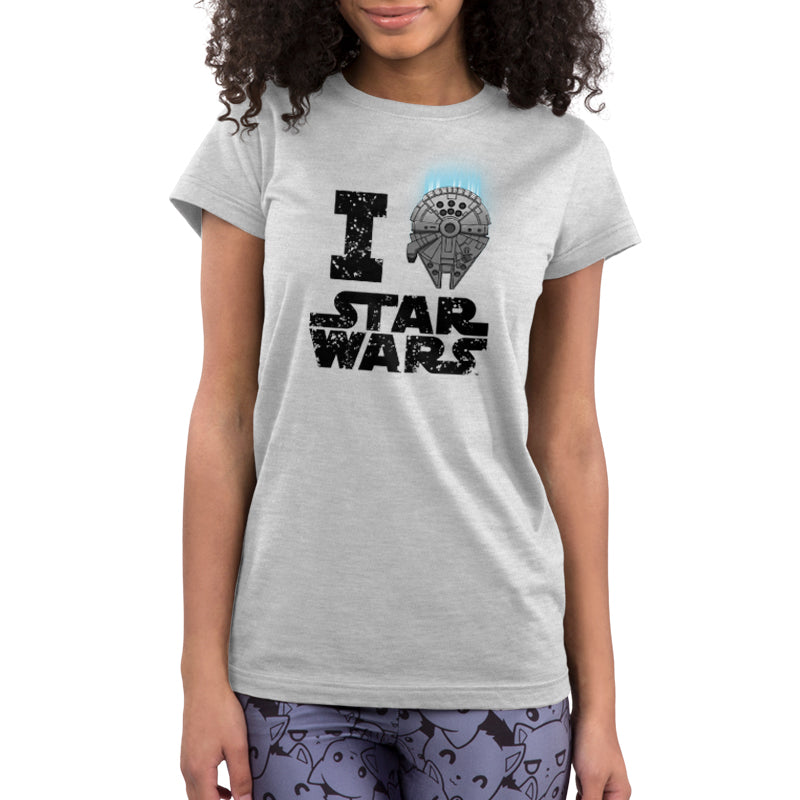 I Heart Star Wars Juniors T-Shirt Model Star Wars TeeTurtle