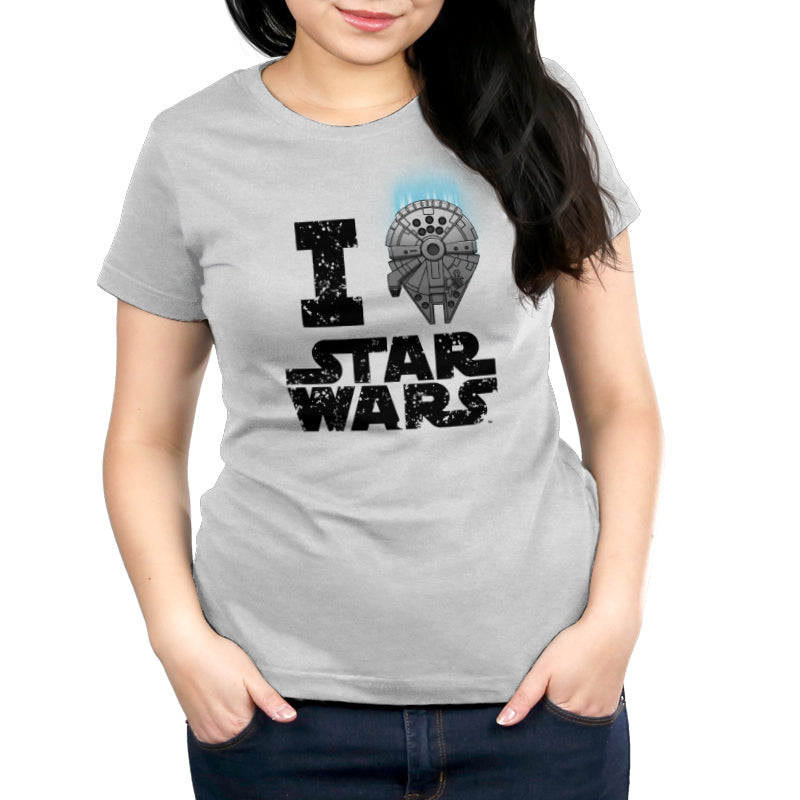 I Heart Star Wars Women's T-Shirt Model Star Wars TeeTurtle