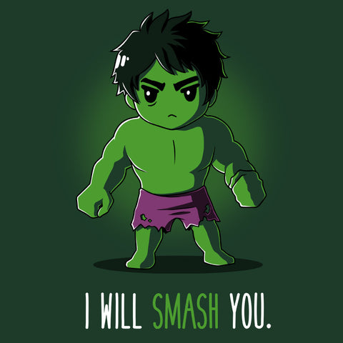I Will Smash You T-Shirt Marvel TeeTurtle