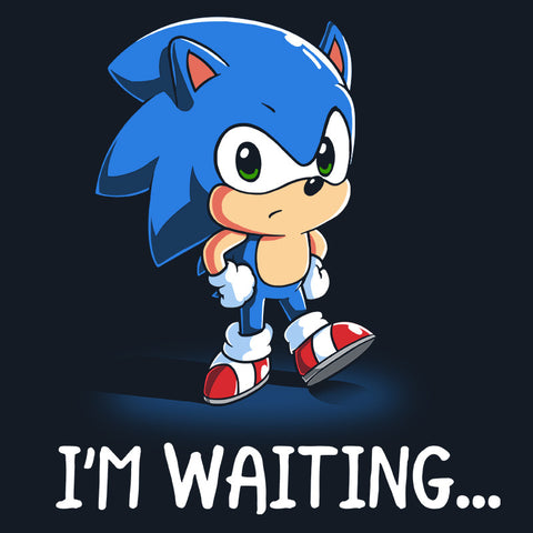 I'm Waiting... t-shirt Sonic the Hedgehog TeeTurtle