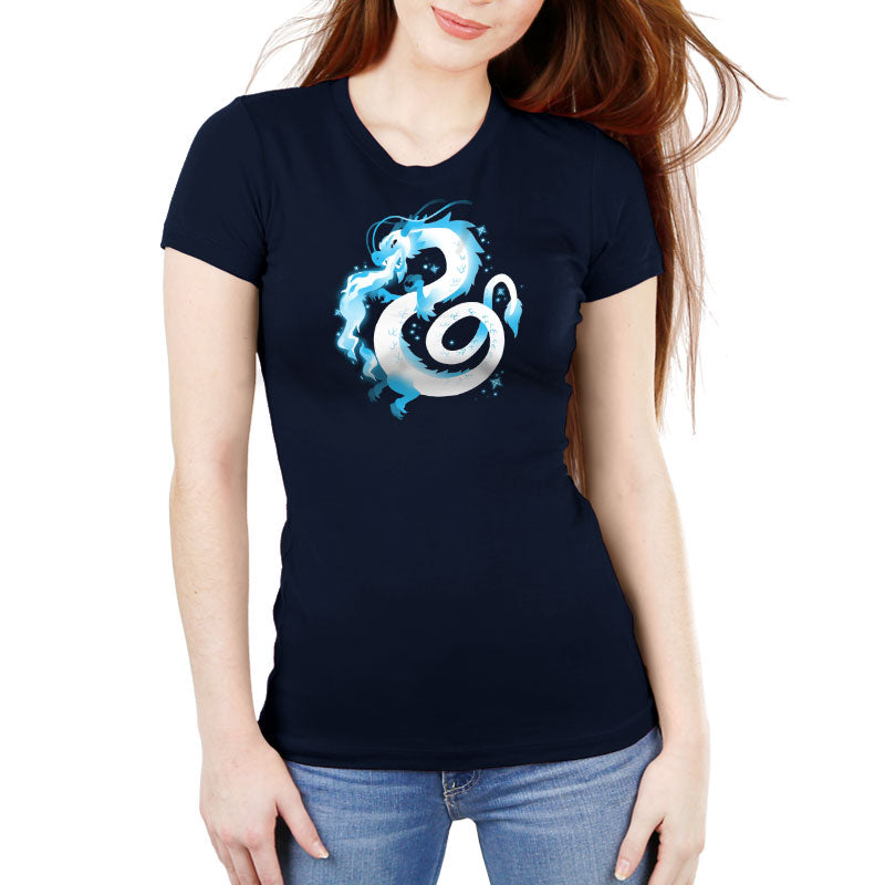 Ice Dragon Women's Ultra Slim T-Shirt Model TeeTurtle
