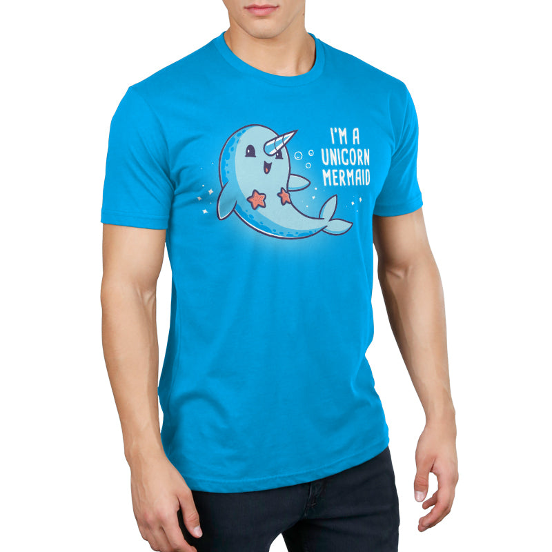 I'm a Unicorn Mermaid! Men's T-Shirt Model Unstable Unicorns TeeTurtle