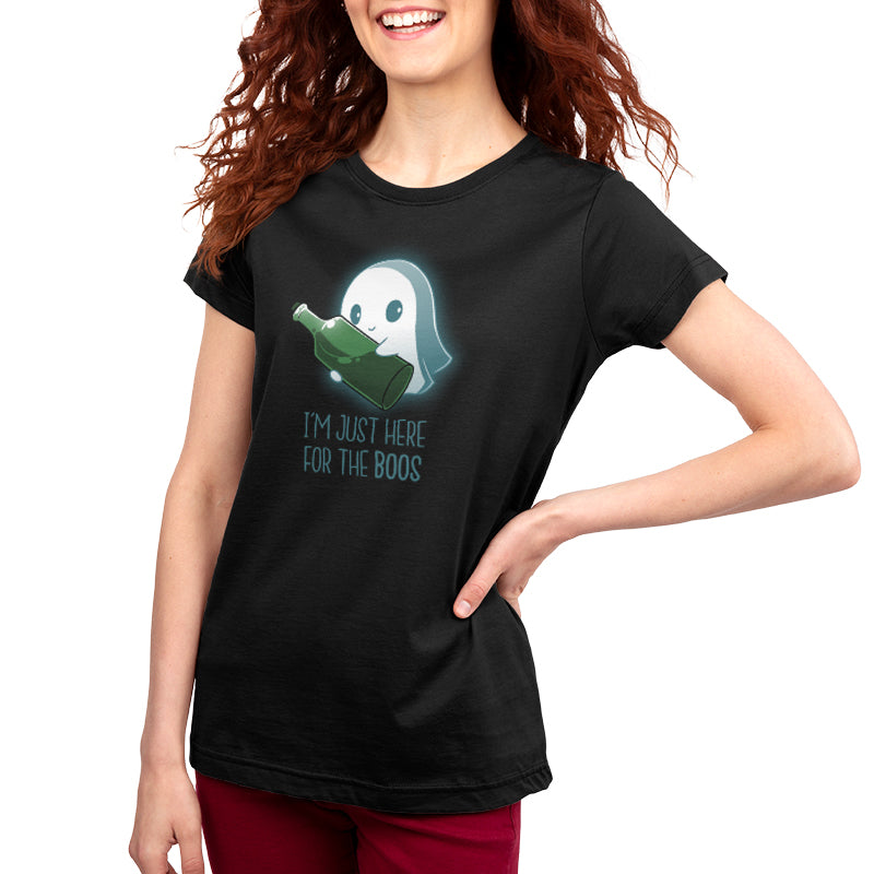 I'm Just Here For the Boos Women's T-Shirt Model TeeTurtle