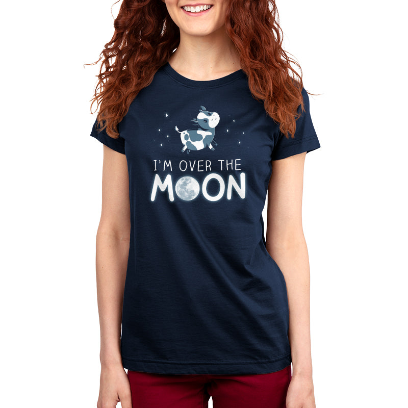 I'm Over the Moon Women's T-Shirt Model TeeTurtle
