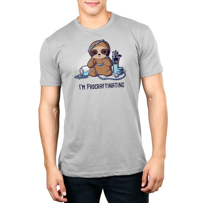 I'm Procraftinating Men's T-Shirt Model TeeTurtle
