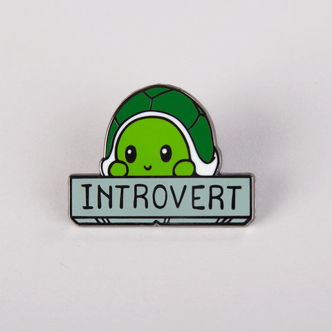 Introvert Charm Pin TeeTurtle