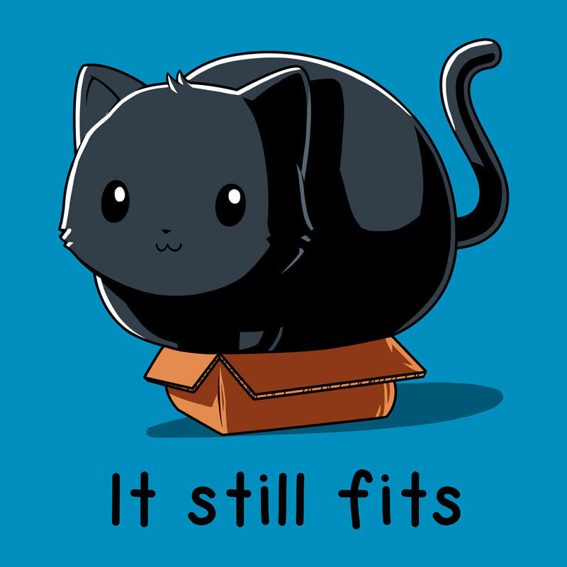 If It Fits I Sits Turquoise T-shirt TeeTurtle