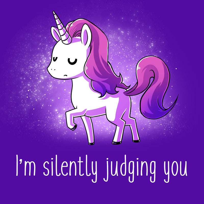 Judging You Purple T-shirt TeeTurtle