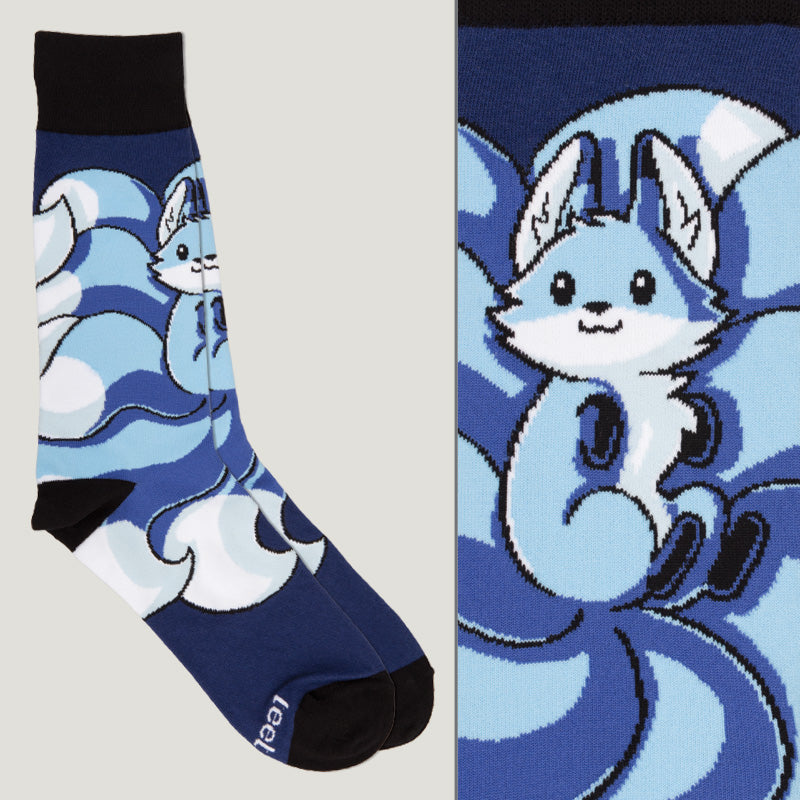 Navy Blue Kitsune Socks TeeTurtle