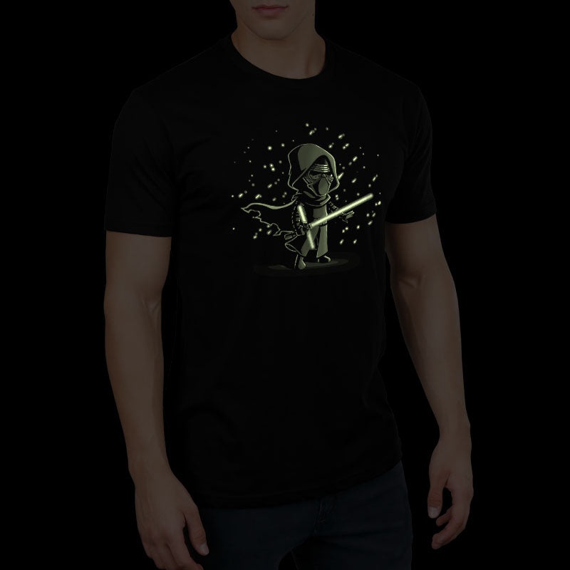 Lightsaber Glow (Kylo Ren) standard t-shirt model Star Wars TeeTurtle