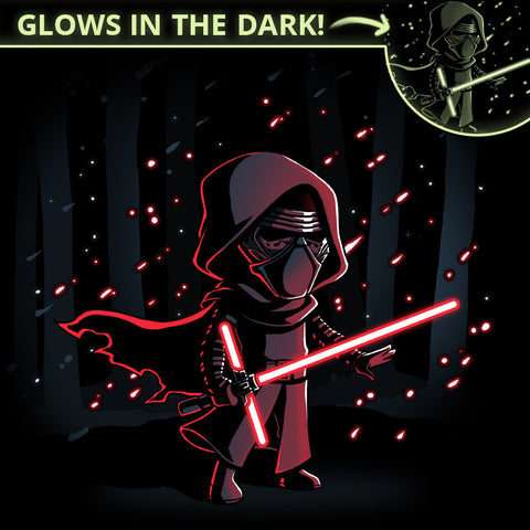 Lightsaber Glow (Kylo Ren) t-shirt Star Wars TeeTurtle