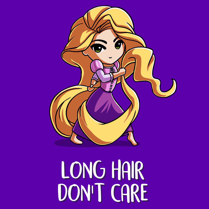 Long Hair Don't Care T-Shirt Tangled TeeTurtle