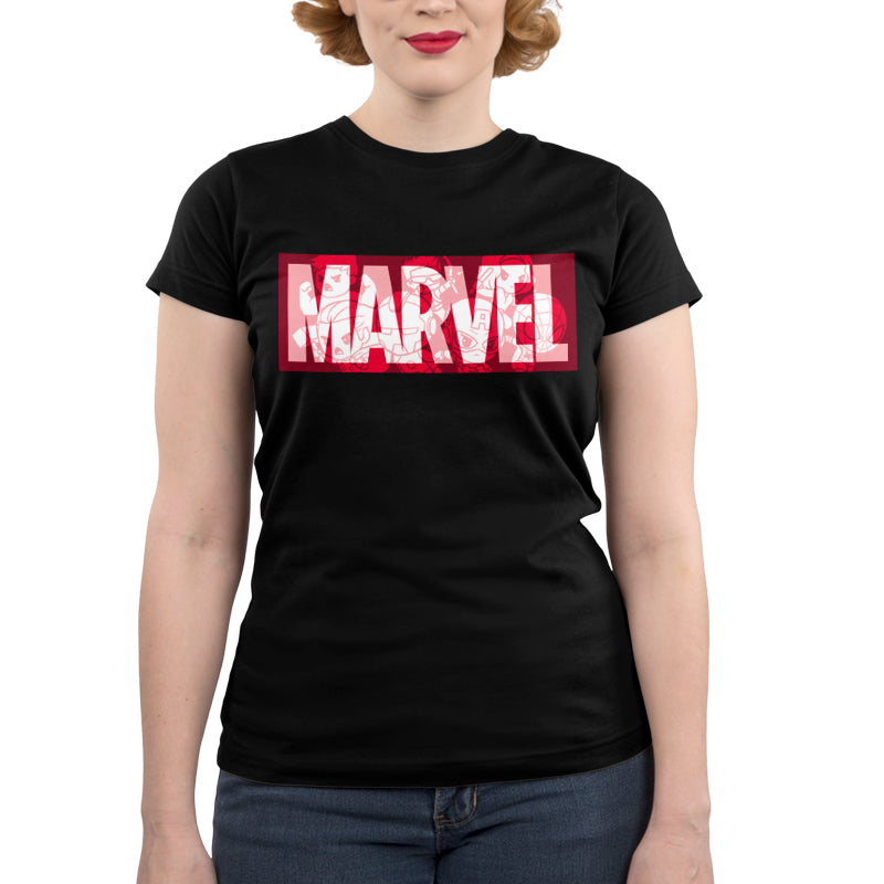 Marvel Logo Shirt Juniors T-Shirt Model Marvel TeeTurtle