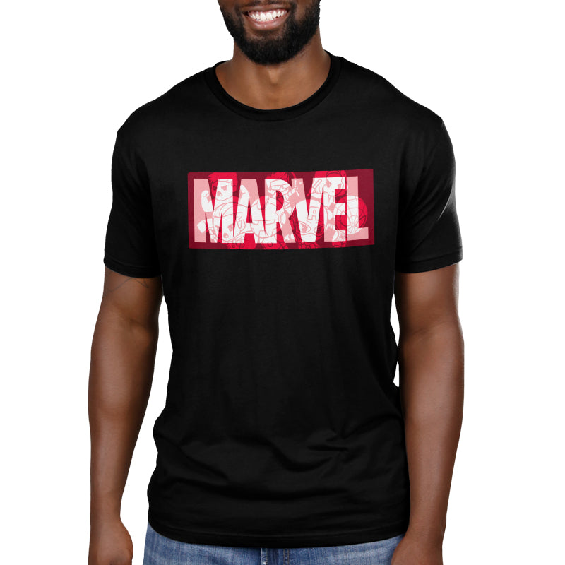 Marvel Logo Shirt Men's T-Shirt Model Marvel TeeTurtle