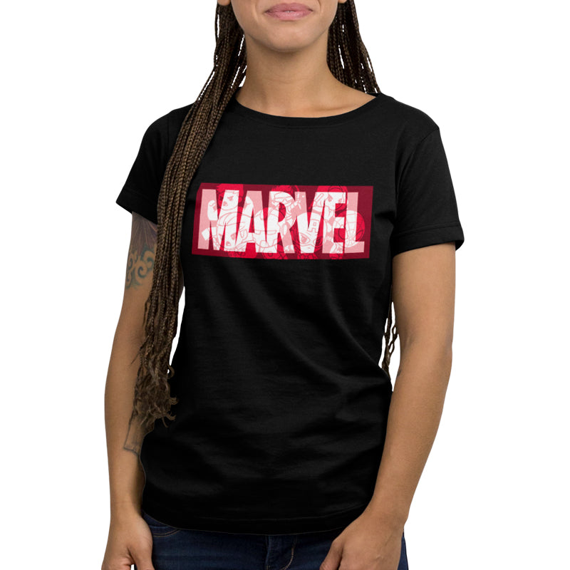 Marvel Logo Shirt Women's T-Shirt Model Marvel TeeTurtle