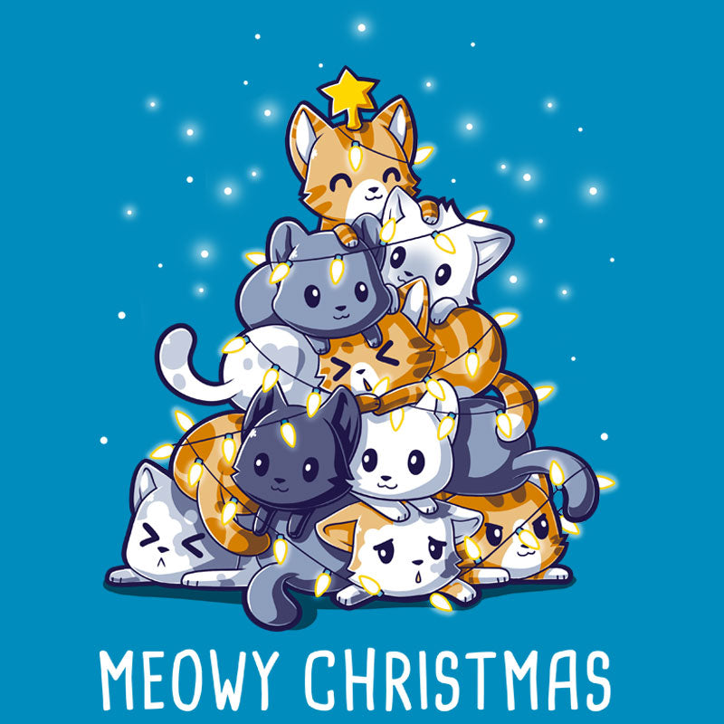 Meowy Christmas T-Shirt TeeTurtle
