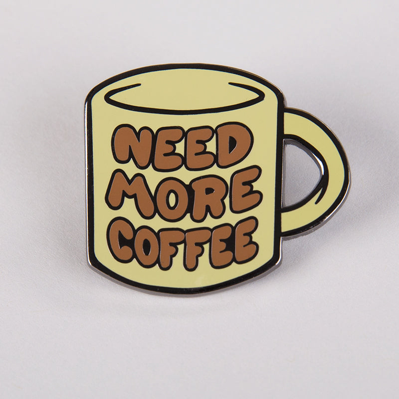 Need More Coffee Charm Pin TeeTurtle
