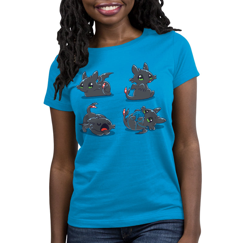 Night Purry Women's Relaxed Fit T-Shirt Model How To Train Your Dragon TeeTurtle