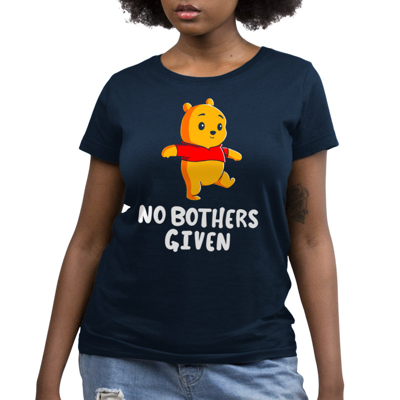 No Bothers Given Women's Relaxed Fit T-Shirt Model Disney TeeTurtle