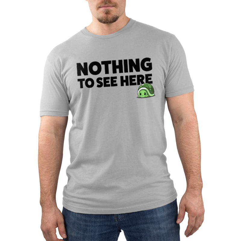 Nothing To See Here Men's T-Shirt Model TeeTurtle