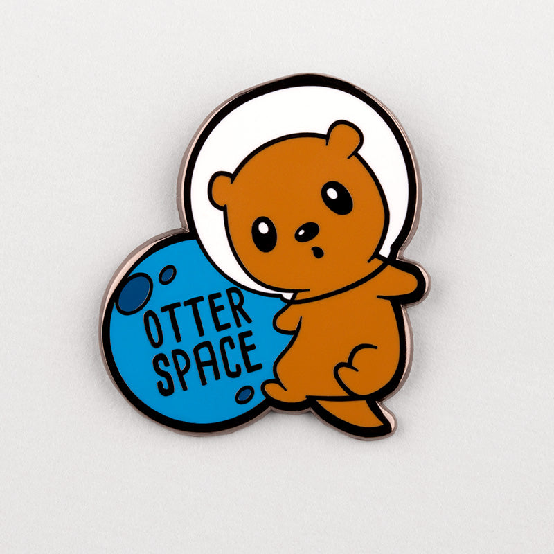 Otter Space Charm Pin TeeTurtle