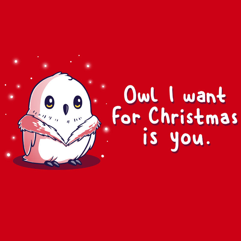Owl I Want For Christmas T-Shirt TeeTurtle