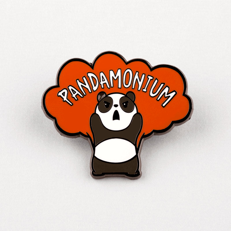 Pandamonium Pin TeeTurtle