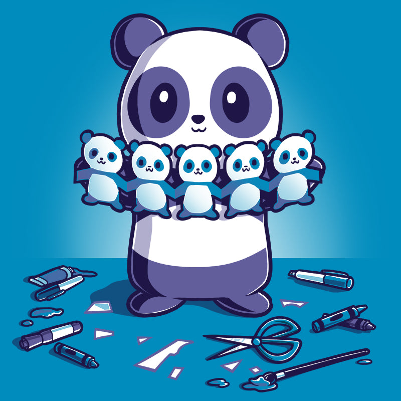 Paper Craft Panda T-Shirt TeeTurtle