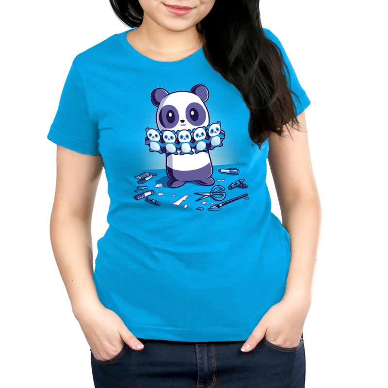 Paper Craft Panda Women's Relaxed Fit T-Shirt Model TeeTurtle