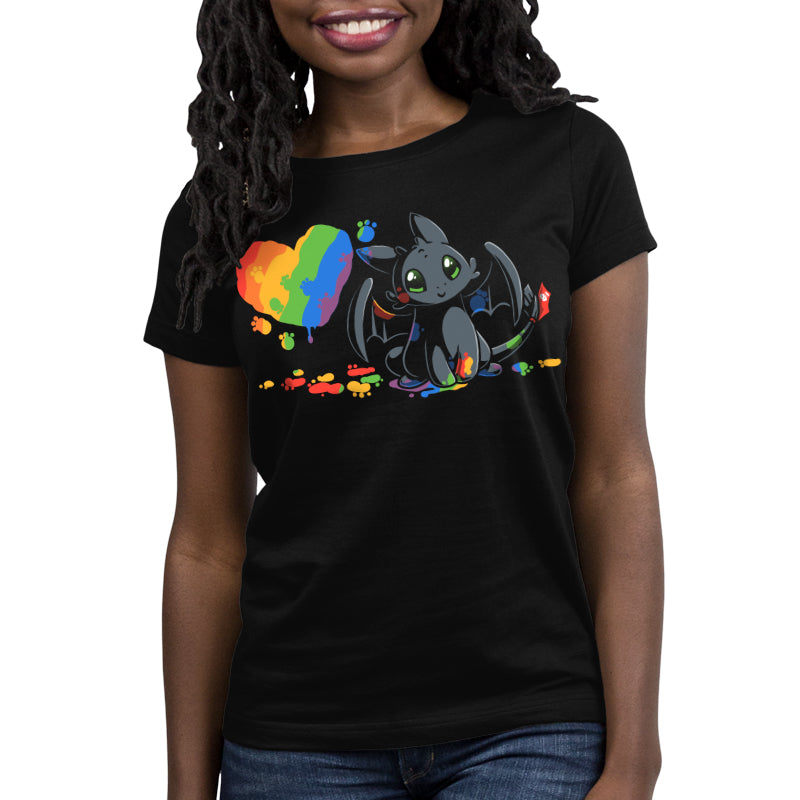 Paw Painting Women's T-Shirt Model How To Train Your Dragon TeeTurtle
