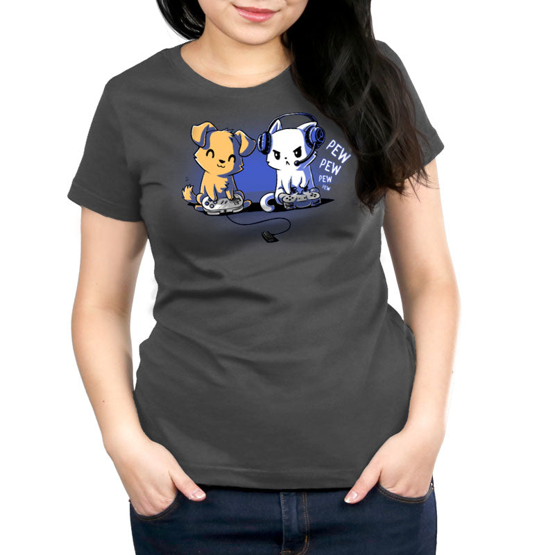 Pew Pew Pals Women's Relaxed Fit T-Shirt Model TeeTurtle