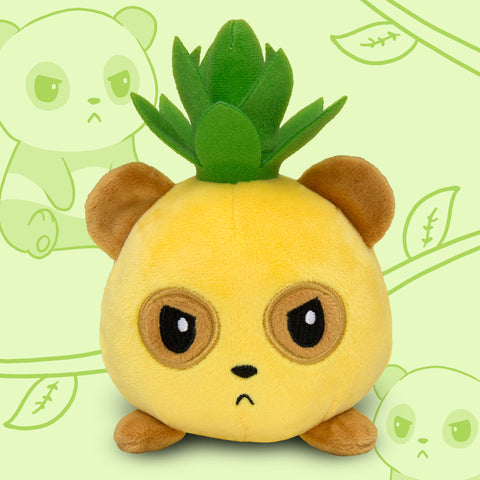 Pineapple Grumpy Panda Mini plushie TeeTurtle Minis
