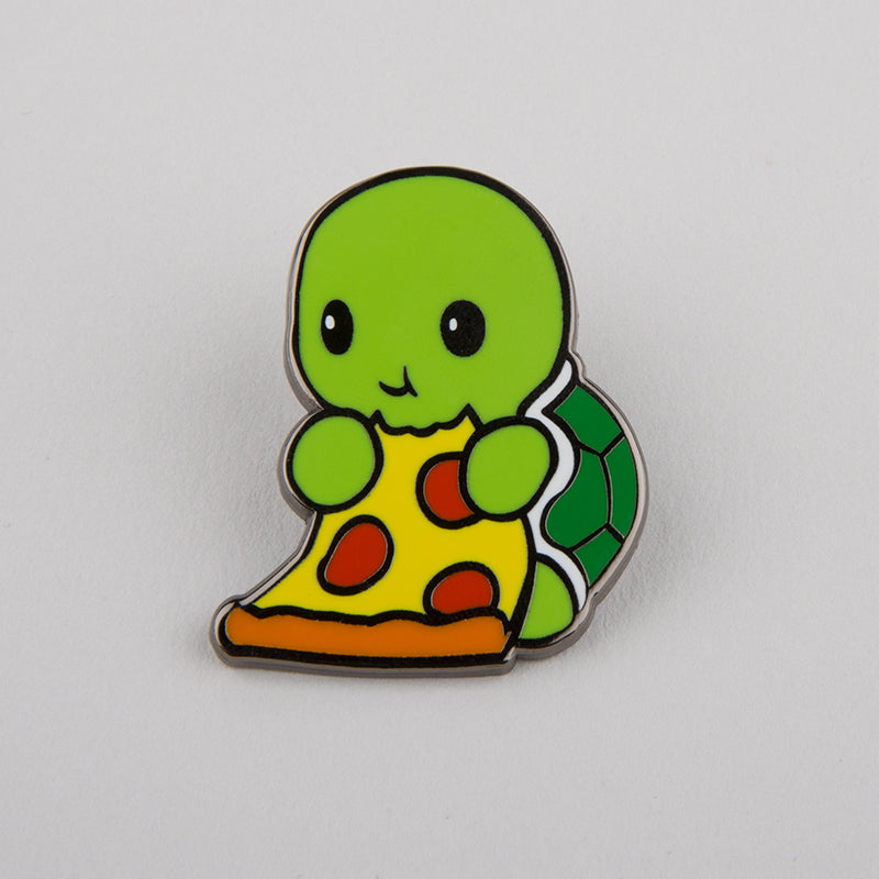 Pizza Turtle Charm Pin TeeTurtle