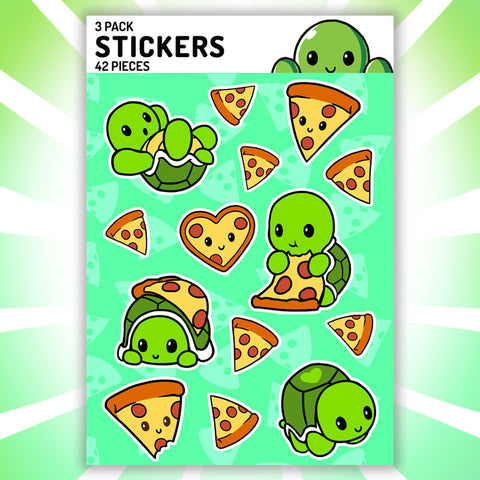 Pizza Turtle Stickers Teeturtle
