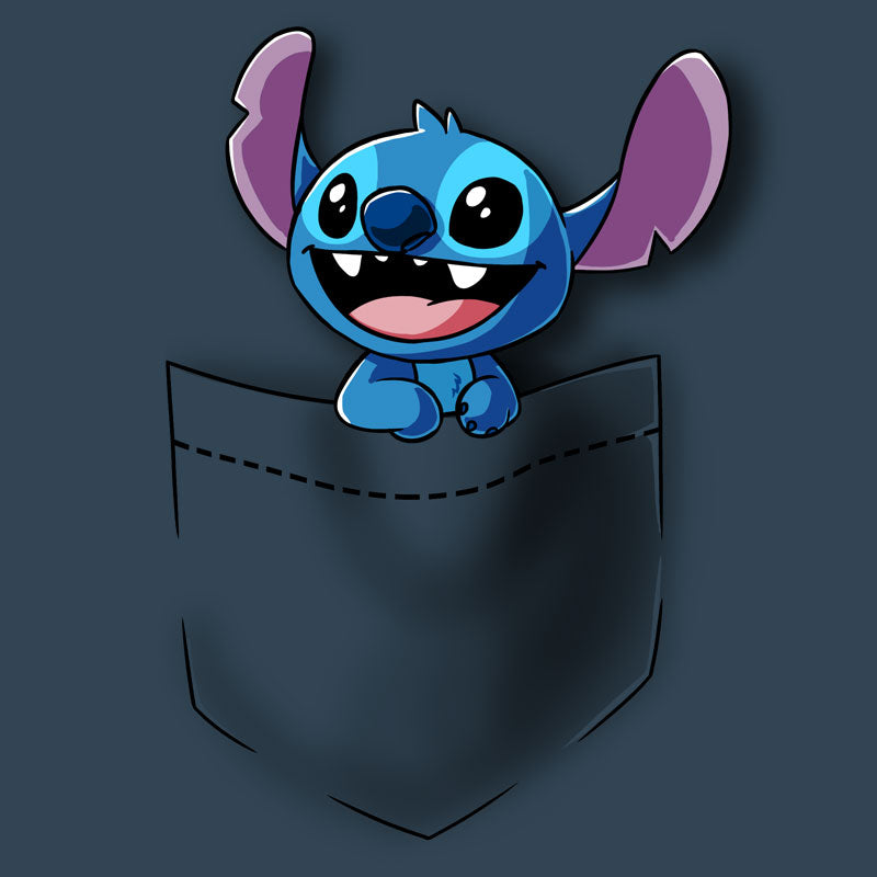 Pocket Stitch T Shirt Official Disney Tee Teeturtle