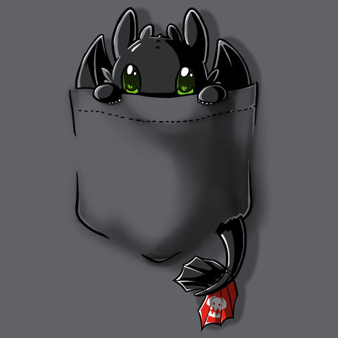 Pocket Toothless t-shirt How To Train Your Dragon TeeTurtle