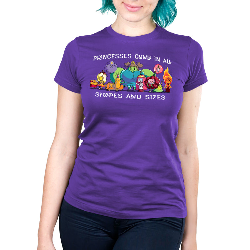 Princesses Come in All Shapes and Sizes Women's Ultra Slim T-Shirt Model Adventure Time TeeTurtle