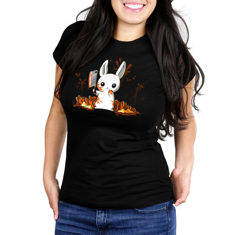 Pumpkin Slaughter Women's Ultra Slim T-Shirt Model TeeTurtle