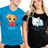 Puppy Love and I Love You Too...Whatever t-shirts TeeTurtle