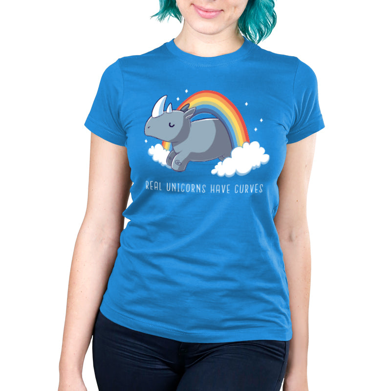 Real Unicorns Have Curves Women's Ultra Slim T-Shirt Model TeeTurtle
