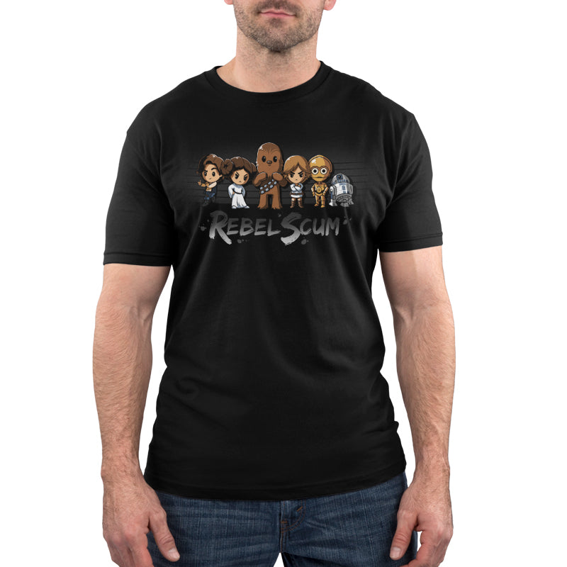 Rebel Scum Men's T-Shirt Model Star Wars TeeTurtle