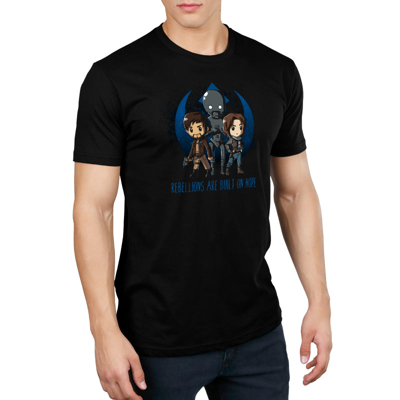 Rebellions are Built on Hope Standard T-Shirt Model Star Wars TeeTurtle