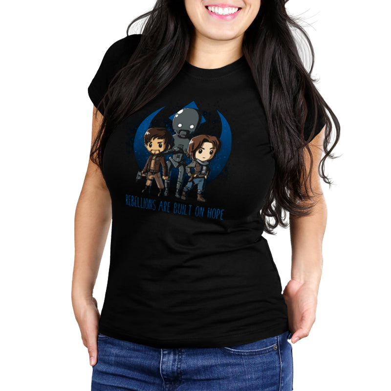 Rebellions are Built on Hope Women's Ultra Slim T-Shirt Model Star Wars TeeTurtle